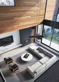 37 Ideas Home Living Room Modern Fireplaces Mid Century Modern Living Room, Living Room Modern, Home Living Room, Living Room Designs, Living Area, Minimal Living, Clean Living, Apartment Living, Small Living