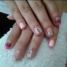 Cute Nails, My Nails, Hello Nails, Nail Art For Kids, Magic Nails, Nail Art Designs, Hair Beauty, Nail Polish, Fairy