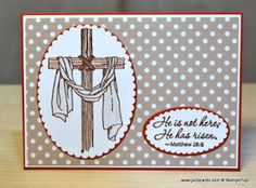 2017  JanB Handmade Cards Atelier: Easter Message    Easter Message Wood Mount Stamp Set: 142984; Clear Mount: 142987