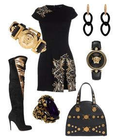 """""""Groove V"""" by robin-groover on Polyvore featuring Dsquared2, Christian Louboutin, Jona and Versace"""