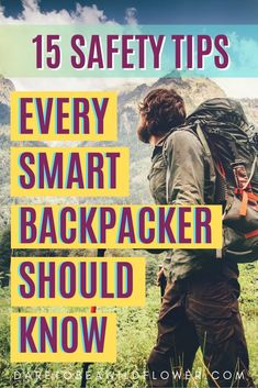 Here are a few backpacking safety tips to help keep you safe, stoked, and exploring the wilderness like a backcountry expert. Backpacking Tips, Hiking Tips, Camping And Hiking, Camping Life, Hiking Gear, Camping Hacks, Camping Hammock, Kayak Camping, Ultralight Backpacking