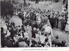 La entrada de las tropas nacionales en San Sebastián el 13 de septiembre. El jefe de un destacamento aclamado por la multitud.