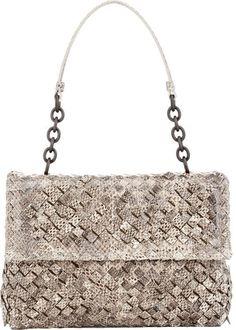 Bottega Veneta Small Olimpia Shoulder Bag-White