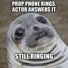 #AwkwardThespianSeal #theatre #thespians #acting #broadway