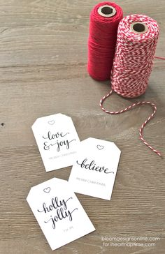 Christmas Gift Tags by Bloom Designs Online on iheartnaptime.com