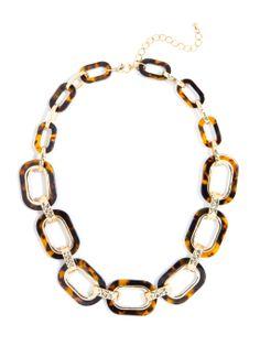 Gilded Tortoise Link Collar Necklace   BaubleBar