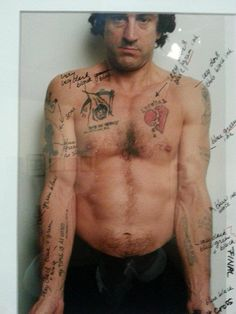 Martin Scorsese overlays potential tattoos for Robert De Niro in Cape Fear
