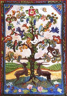 The Chinese tree of life. In Chinese mythology, a carving of a Tree of Life depicts a phoenix and a dragon; the dragon often represents immortality. A Taoist story tells of a tree that produces a peach every three thousand years. The one who eats the fruit receives immortality.