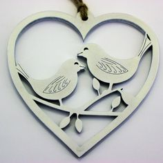 Hanging Decoration - White Birds in Heart. Home Decoration. Valentine, Wedding in Home, Furniture & DIY, Celebrations & Occasions, Christmas Decorations & Trees | eBay