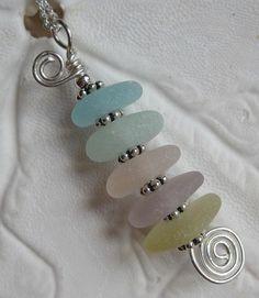 Sea glass pendant, bellacarta