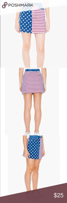 American Apparel Flag Print Denim Mini Skirt Bundle & Save  No Trades Perfect Condition American Apparel Skirts Mini