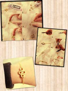 Diy bracelet Diy Crafts For Teens, Easy Diy Crafts, Craft Ideas, Nut Bolt, Hardware Jewelry, Simple Bracelets, Diy Bracelet, Cute Diys, Diy Jewelry Making
