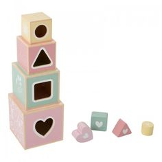Little Dutch Wooden Stacking Cubes - Pink Little Dutch is a gorgeous brand for little people, from textiles to toys, Little Dutch have the most beautiful products for the nursery and beyond! Mobile Musical, Play Corner, Pram Toys, Stacking Blocks, Wooden Cubes, Wooden Animals, Toys For Girls, Kids Toys, Lettering Design