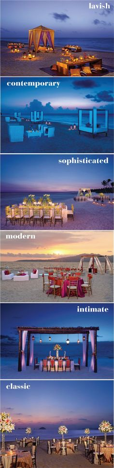 Stunning Beach Front #Wedding Receptions by @applevacations