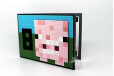 Minecraft Pig Birthday Card by Independent Stampin' Up! Demonstrator carolynbennie.com