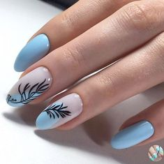 Discover new and inspirational nail art for your short nail designs. Manicure Nail Designs, Nail Manicure, Manicure Ideas, Nails Design, Short Nail Designs, Cool Nail Designs, Blue Nails, My Nails, Pin On
