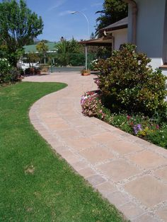 A winding pathway created with products from Stonemarket (Pty) Ltd, Cape Town, South Africa. Pool Coping, Cape Town, Pathways, Garden Inspiration, South Africa, Range, Design, Products, Cookers