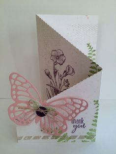 Butterfly Basics Tri-Fold Card  by Kendra Heidt