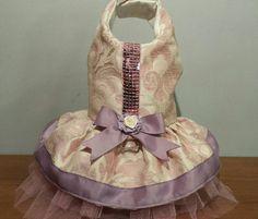 Dog dress - Handmade - Size xs - Dog harness dress - dog tu tu dress - chihuahua dress - doggies fashion - toy dog dress