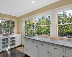 kitchen wall colors with antique white cabinets - Google Search