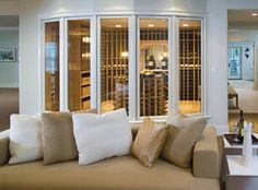 Love the glass to see right in.  Photo courtesy of Baltic Leisure Wine Storage