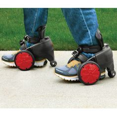 The Electric Skates - Hammacher Schlemmer  How fun would these be at work?  I would love to see people zipping around.