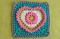 Tutorial - heart granny square