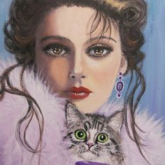 LADY WITH A CAT