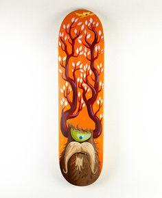 WOW, amazing skate deck by Chris Leavens!