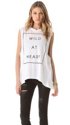 Wildfox Wildest Heart Muscle Tank