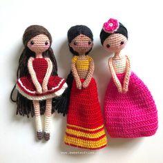 International Doll East Indian: Sanjana Amigurumi Crochet