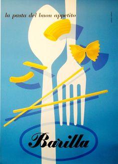 1950's, Barilla - Carboni poster   Maison & Demeure