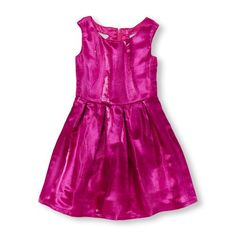 Girls Sleeveless Metallic Jacquard Woven Dress | The Children's Place