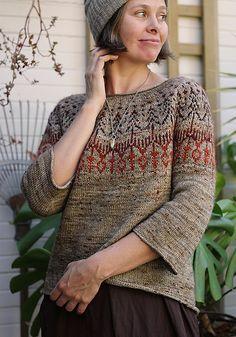 Ravelry: Hinterland pattern by Jennifer Steingass Knitting Designs, Knitting Projects, Knitting Patterns, Icelandic Sweaters, Knit Sweaters, Cardigans, Fair Isle Knitting, Sock Knitting, Fair Isle Pattern