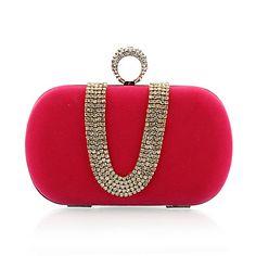 Velvet With Austria Rhinestones/ Aluminiumsheet Evening Handbags/ Clutches More Colors Available – USD $ 16.79