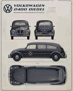 VW 2400 Diesel a. Der Große Totenkäfer, Andrej Troha - New Ideas Auto Volkswagen, Volkswagen Beetle, Vw T1, 3008 Peugeot, Peugeot 206, Diesel, Kdf Wagen, Vw Vintage, Vw Cars