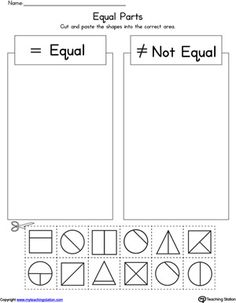 **FREE** Shape Equal Parts Worksheet Worksheet. Practice identifying shape parts and sizes with this printable math worksheet.