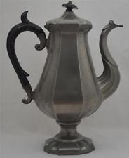JAMES DIXON & SONS PEWTER COFFEE POT-TEAPOT-c1835 to 1841