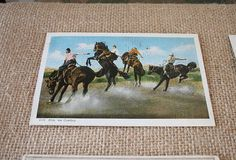 Vintage Western Postcards  Set of 3 from 1930's by TheAstorRoom on #Etsy