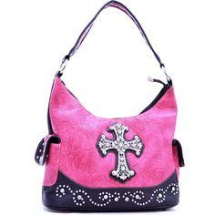 Designer Hot Pink Cross Handbags Cute found on Polyvore