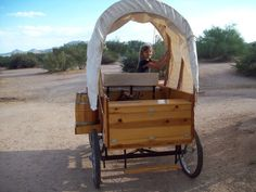 Built to scale pony cart covered wagon