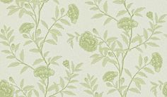 Chinese Peony - Sanderson Wallpapers - Chinese Peony is an elegant peony trail reproduced from an early century wallpaper. Shown here in Pale Olive - more colours are available. Please request a sample for true colour match. Paste-the-wall product. Wall Patterns, Print Patterns, 1930s House Interior, True Colors, Colours, Linen Wallpaper, Feature Wallpaper, Fashion Wallpaper, Pattern Paper