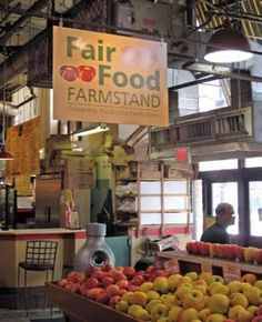 Located in the Reading Terminal Market, the Fair Food Farmstand carries a wide variety of fresh produce, meats, poultry, dairy, cheese, eggs and value-added products from more than 90 sustainable farms and food producers in southeast Pennsylvania and southern New Jersey, including urban farms within the city of Philadelphia. The Farmstand is unique both regionally and nationally by offering the product mix of the best farmers' market with the convenience and accessibility of a grocery store.