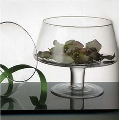 Glass Candle Bowl 8in. Wedding and craft items