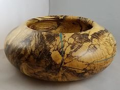 Spalted Maple and Turquoise Bowl | Sylvan Soaps
