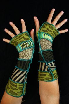 Arm Warmers made from upcycled sweaters by katwise on Etsy