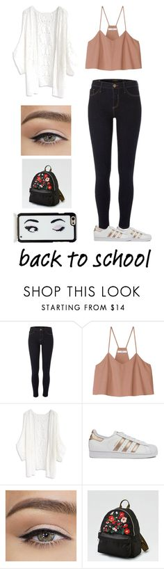 """""""School Outfit #3"""" by bws-inlove ❤ liked on Polyvore featuring River Island, TIBI, Chicwish, adidas, American Eagle Outfitters, Kate Spade, BackToSchool, cute, outfit and school"""