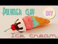 ▶ Polymer clay ice cream cone TUTORIAL