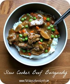 Recipe for Slow Cooker (Crock Pot) Beef Burgundy