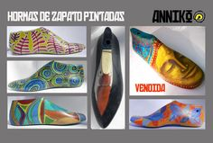 Hormas De Zapato Pintadas Schuster, Shoe Last, Painted Shoes, Vintage Shoes, Creations, Decoupage, Crafting, Natural, Diy